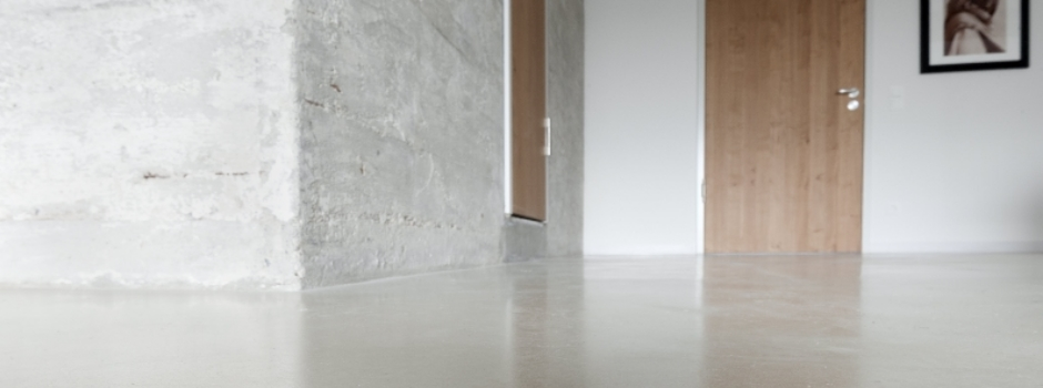 Designspachtel, Betonböden und Sichtestrich